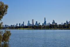 Melbourne city skyline Royalty Free Stock Photography