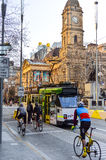Melbourne City Trams 2. If you're visiting Melbourne, Victoria, you will no doubt see plenty of the iconic Melbourne trams bustling through the city and suburbs stock images