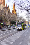 Melbourne City Trams 2. If you're visiting Melbourne, Victoria, you will no doubt see plenty of the iconic Melbourne trams bustling through the city and suburbs royalty free stock photos