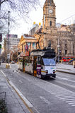 Melbourne City Trams 2. If you're visiting Melbourne, Victoria, you will no doubt see plenty of the iconic Melbourne trams bustling through the city and suburbs stock photography