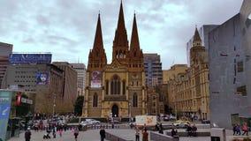 Melbourne City Victoria Australia stock footage