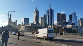 Melbourne City Victoria Australia 2015 stock video