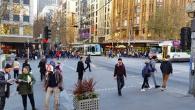 Melbourne City Victoria Australia 2015 stock footage
