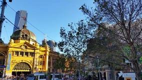 Melbourne City Victoria Australia - Flinders Street station stock video
