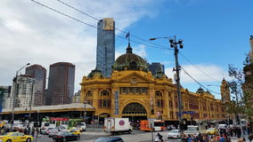 Melbourne City Victoria Australia - Flinders Street station stock footage