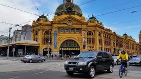 Melbourne City Victoria Australia - Flinders Street station stock video footage