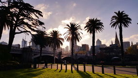 Melbourne City Victoria Australia - Sunset stock footage
