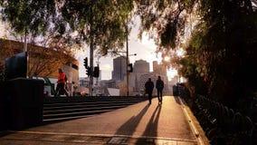 Melbourne City Victoria Australia - Sunset stock video footage