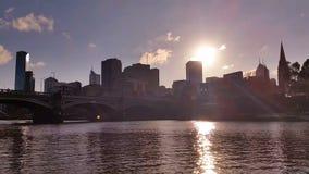 Melbourne City Victoria Australia - Yarra River stock video
