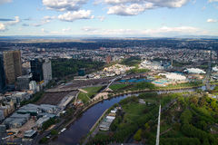 Melbourne City View Royalty Free Stock Photos