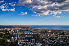 Melbourne City View. On the 88 Floor, view the whole Melbourne city. It's very bueatiful Royalty Free Stock Photo