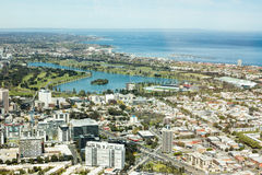 Melbourne City. The city view of Australia Melbourne, taken from Eureka Skydeck88 Tower Royalty Free Stock Photography