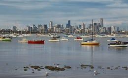 Melbourne city view Stock Photo