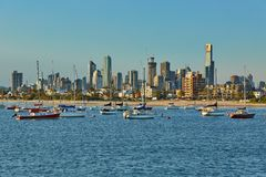 Melbourne city view Royalty Free Stock Image