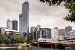 Melbourne City and Yarra River Royalty Free Stock Images