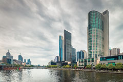 Melbourne City and Yarra River Stock Photos