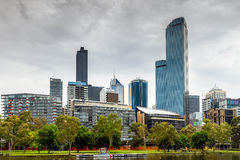 Melbourne City and Yarra River Stock Images
