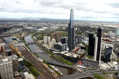 Melbourne Cityscape Stock Photo