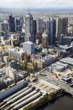 Melbourne Cityscape of Federation Square royalty free stock image