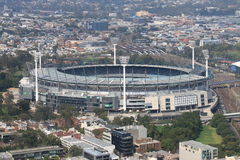 Melbourne cityscape Melbourne Cricket Ground Australia Royalty Free Stock Images