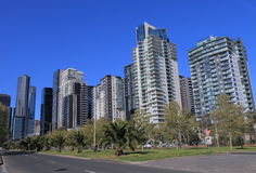 Melbourne cityscape residential apartment Royalty Free Stock Image