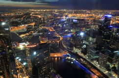 Melbourne cityscape Stock Photography
