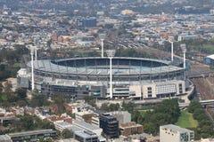 Melbourne cityscapeMelbourne syrsa jordAustralien Royaltyfria Bilder