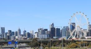Melbourne cityscapesikt Australien Royaltyfria Foton