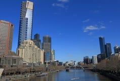 Melbourne cityscapestrand Australien Royaltyfria Bilder