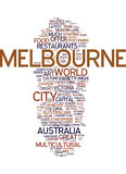 Melbourne The Cosmopolitan Capital Of Australia Text Background  Word Cloud Concept Stock Photography