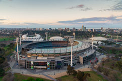 Melbourne Cricket Ground from a balloon Stock Images