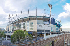The Melbourne Cricket Ground. In Victoria, Australia. The MCG is the largest sports stadium in Australia Royalty Free Stock Image