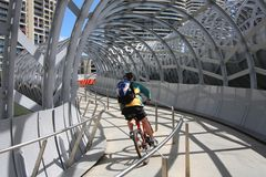 Melbourne cyclist Royalty Free Stock Image