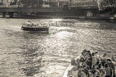 Melbourne czarny i biały Zdjęcia Royalty Free