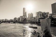Melbourne czarny i biały Zdjęcie Royalty Free