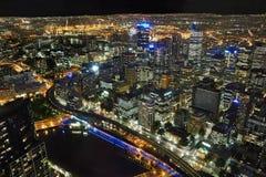 Melbourne da sopra Fotografia Stock