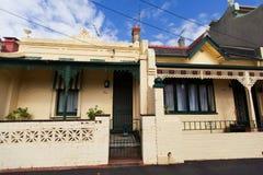 MELBOURNE - 19 DE MARÇO DE 2015: Casa vitoriano Fotos de Stock