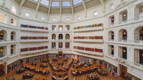 MELBOURNE 11 de marzo de 2018: Victoria State Library Ésta es la biblioteca pública de Melbourne almacen de metraje de vídeo