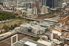 Melbourne de stad in Royalty-vrije Stock Foto's