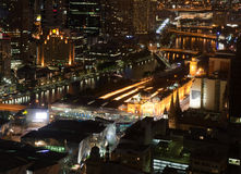 Melbourne de stad in stock fotografie
