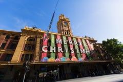 MELBOURNE - 29 december, 2014: X'mas in Melbourne Australië Royalty-vrije Stock Afbeelding
