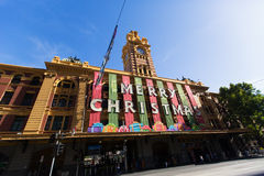 MELBOURNE - December 29, 2014: X'mas in Melbourne Australia. Royalty Free Stock Image