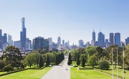 Melbourne in der Tageszeit stockbilder