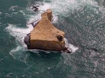 Melbourne doce apóstoles - Ariel View de una isla plana superior imagen de archivo