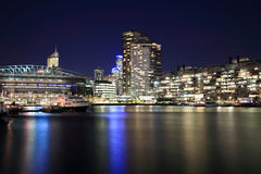 Melbourne Docklands. Docklands is located in the heart of Melbourne, at the western edge of the central business district with which it is rapidly integrating Stock Photography