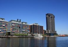 Melbourne, Docklands. Modern apartment buildings at the Docklands area in Melbourne, Australia stock photography