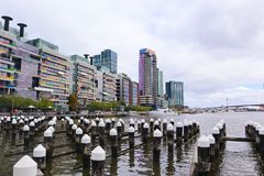 Melbourne Docklands Area in Australia stock photo