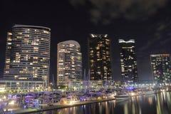 Melbourne Docklands cityscape Australia Royalty Free Stock Photo