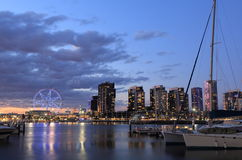 Melbourne Docklands cityscape Australia Royalty Free Stock Photos