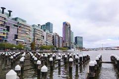 Melbourne Docklands teren w Australia zdjęcie stock